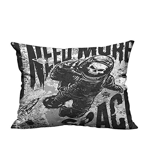 YouXianHome Decorative Couch Pillow Cases Skull in Spaceman Suit Over Grunge Background Dead Spooky Halloween Theme Easy to Wash(Double-Sided Printing) 13.5x19 -