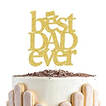 Best Dad Ever Cake Topper, Happy Birthday Dad Cake Decor,Happy Father's Day Party Decorations