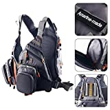 Amarine-made Fly Fishing Backpack Adjustable Size Mesh Fishing Vest Pack, Fly Fishing Vest and Backpack Combo-D77 (Gray) Review