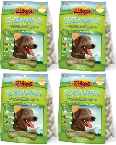- Zukes Z-Bones Edible Dental Chews Regular Apple Crisp 3lb 32ct(4x12oz)
