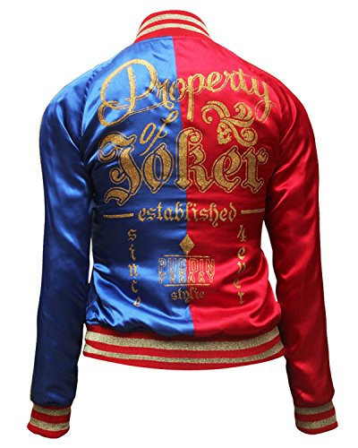 [Harley Bomber Costume Jacket for Women NEW STYLE L] (New Harley Quinn Costumes)