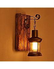 LOFT kleding vintage massief hout Amerikaanse kunst lantaarn bar café restaurant slaapkamer vintage glazen wandlamp