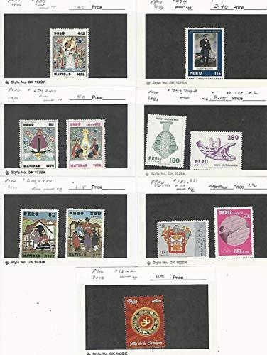 Peru, Postage Stamp, 633, 624, C417, 640, C484, 694, 749-B, 1814a Mint NH, JFZ