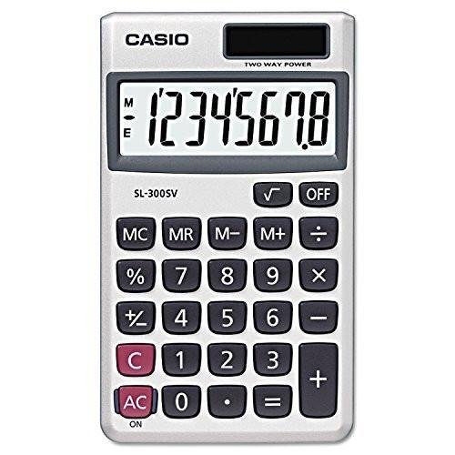 Casio Wallet Style Pocket Calculator from Casio