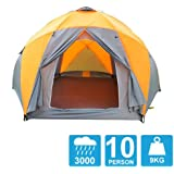 Tent 8-10 Persons High Quality Windproof Waterproof Outdoors 3000mm Hex Tent Durable Family Camping Gear Party Tent