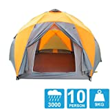 Tent 8-10 Persons High Quality Windproof Waterproof Outdoors 3000mm Hex Tent Durable Family