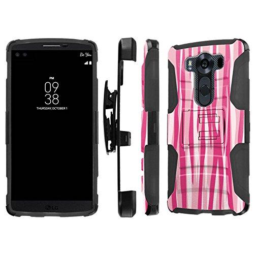 Click to buy LG V10 / G4 Pro Case, [NakedShield] [Black/Black] Heavy Duty Holster Armor Tough Case - [Two Tones Pink Zebra Stripes] for LG V10 / G4 Pro - From only $12.79