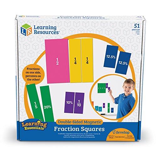 Carrés de fractions aimantés recto-verso de Learning Resources