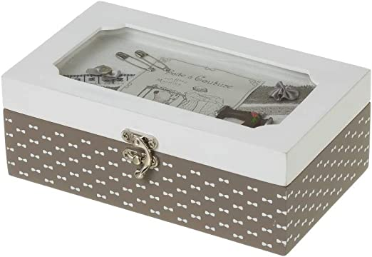 Costurero caja de madera gris vintage para cocina Bretaña - LOLAhome: Amazon.es: Hogar