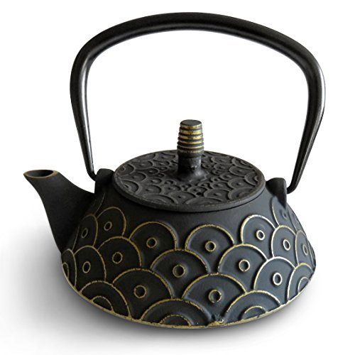 Huswell Cast Iron Teapot with Infuser, 27 oz./0.8