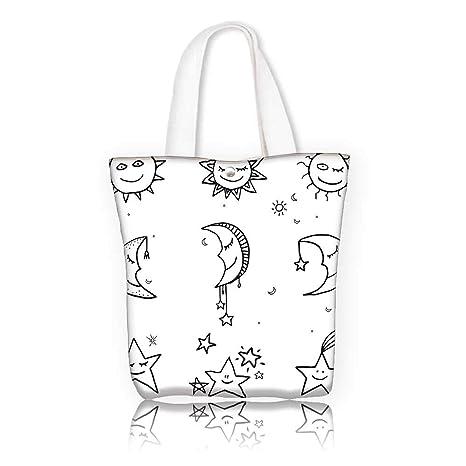 Amazon com: Canvas Shoulder Hand Bag -W16 5 x H14 x D7 INCH
