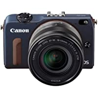 Canon EOS M2 Mark II 18.0 MP Digital Camera with 18-55MM F/3.5-5.6 IS EF-M STM Lens (Blue) - International Version (No Warranty)