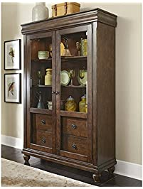 Liberty Furniture Rustic Tradition Dining Display Cabinet Cherry Finish
