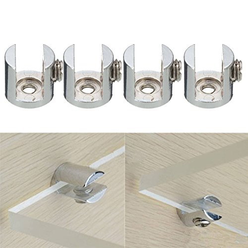 - Pink Lizard 4pcs Shelves Support Brackets Clamp For Glass Wooden Acrylic Shelves Hold 6-10 mm