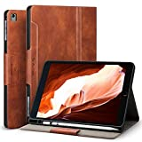 Antbox iPad Case for iPad Pro 9.7 iPad Air iPad Air 2 with Built-in Apple Pencil Holder Auto Sleep Wake Function PU Leather Smart Cover (Brown)