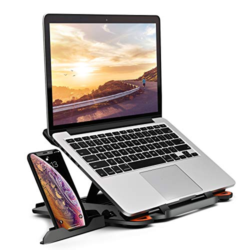 Laptop Stand Adjustable Laptop Computer Stand Multi-Angle Stand Phone Stand Portable Foldable Laptop Riser Notebook…