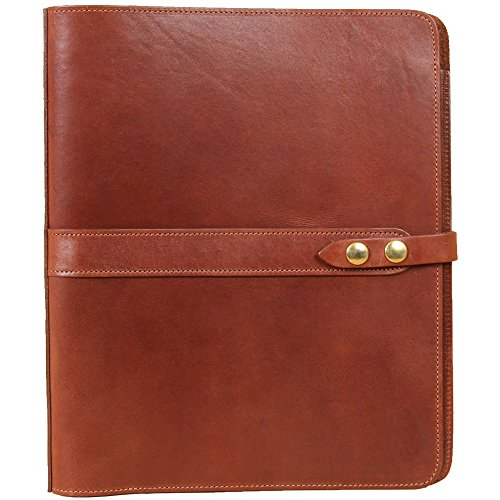 Leather Notebook One Inch Three Ring Binder Folder Brown USA Made No. 19 (Littleton Leather)