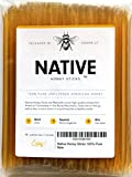 Native Honey Sticks | 100% Real, Uncut, Pure, Unfiltered, Natural, American Honey Straws | 100 Pack of Local, U.S. Grade A Original Clover Honey Stix | Great for Tea, Kids Snacks, Travels and Outdoors