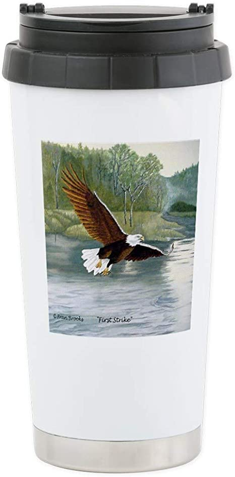 Amazon Com Cafepress American Bald Eagle Flight Stainless Steel Travel Stainless Steel Travel Mug Insulated 16 Oz Coffee Tumbler Kitchen Dining