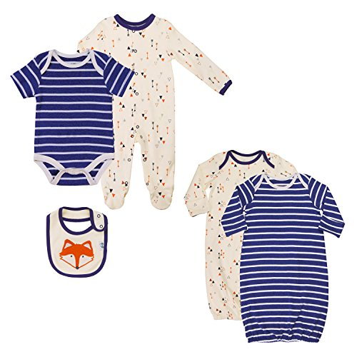 buy popular c9749 27cf4 Asher and Olivia Twin Baby Boys' Pajama Sets.(5-Pack) Footed ...