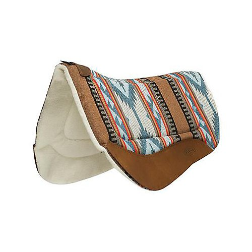 Weaver Leather 35-9307-H37 Contoured Saddle Pad - Merino Wool Fleece Lining,>
