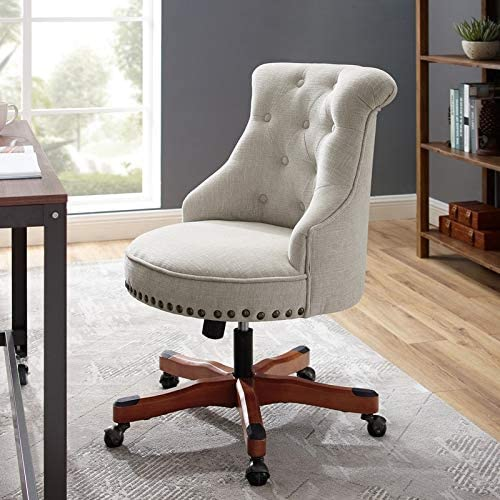 Linon Pamela Off-White Office Chair