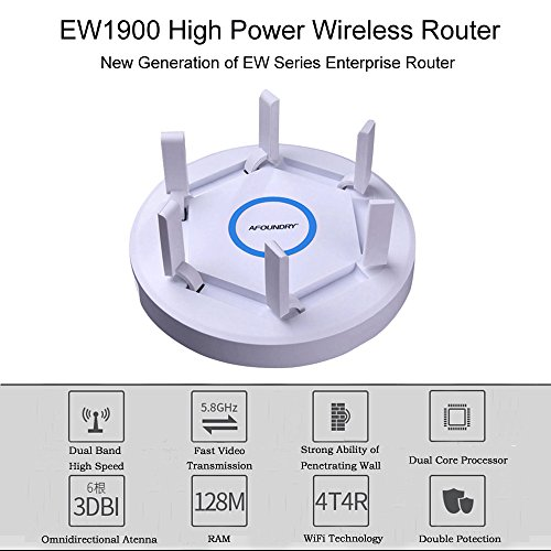 AFOUNDRY EW1900 Gigabit Dual Band Wireless WiFi Router,2600Mbps Computer Router Long Range up to 200m, High Power Business Enterprise Router by AFOUNDRY (Image #4)