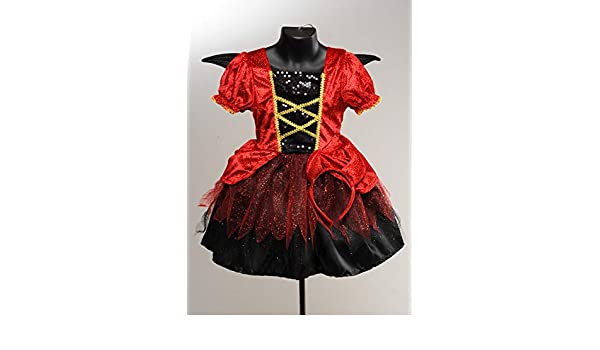 Magic Box Disfraz de niña Diablo Linda de Halloween para niños ...
