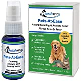 Calming Stress Relief Formula for Dogs and Cats; All Natural Pets-At-Ease Quick Acting Spray Helps Calm Your Pet During Car Rides, Vet Visits, and Thunder Storms. Aids Separation Anxiety and Kenneling