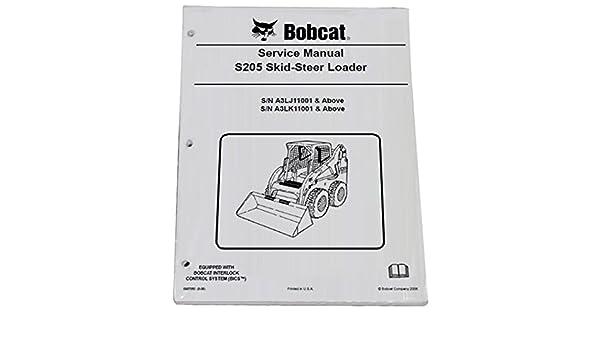Amazon com: Bobcat S205 Skid Steer Complete Shop Service