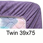 Solid Navy Fitted Mattress Cover Twin 408