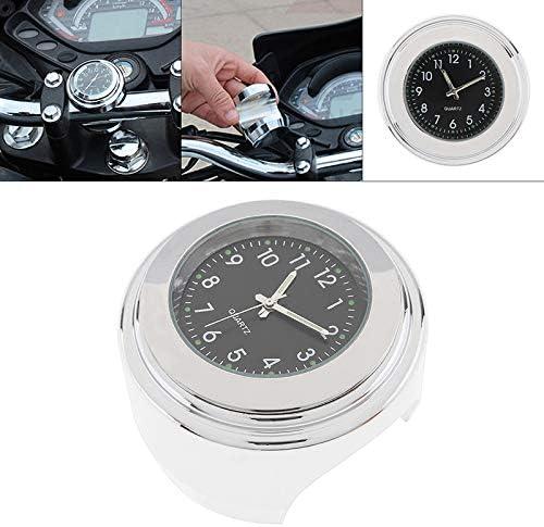 Demiawaking Orologio da Manubrio per Moto Orologio da Moto al Quarzo Luminoso Impermeabile per Manubrio Diametro 22-25mm