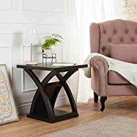 Furniture of America Barkley Modern Espresso X-base End Table