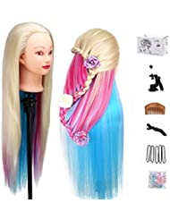 Amazon hair extensions beauty personal care mysweety 29 inch colorful hair mannequin head hairdressing practice training doll heads cosmetology hair styling mannequins pmusecretfo Gallery