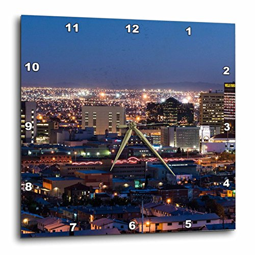 3dRose Cities Of The World - City Of El Paso, Texas - 15x15 Wall Clock - Paso Outlets El Texas
