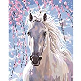 DIY 5D Rabbit Lion Deer Horse Full Drill Diamond Painting,Jchen(TM) Home Decor 5D Embroidery Paintings Rhinestone Pasted DIY Diamond Painting Cross Stitch (Horse: 25x30cm)
