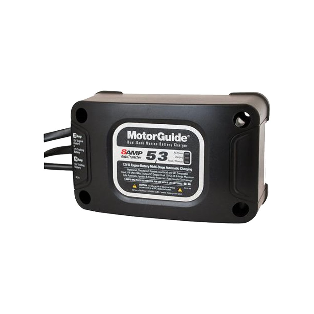 ATTWOOD/MOTORGUIDE Brunswick 8Amp Dual Bank Boating Battery Chargers