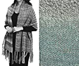''Prayer Shawl'' Knit Kit in Encore Worsted Colorspun yarn - OCEAN DRIFT