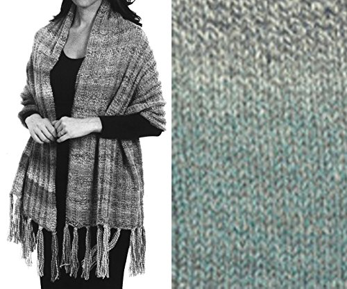 ''Prayer Shawl'' Knit Kit in Encore Worsted Colorspun yarn - OCEAN DRIFT by Encore