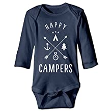 Infant Happy Campers Camping Outfits Cute Baby Onesie Bodysuit