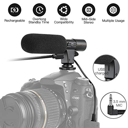Rechargeable Camera Video Microphone