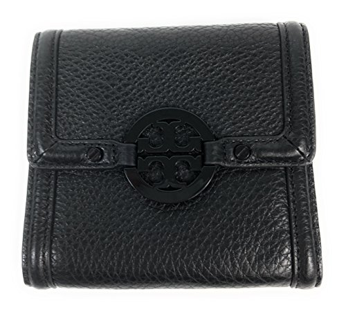 - Tory Burch Amanda French Trifold Wallet Black Leather