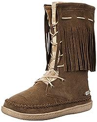 Woolrich Women's Pocono Creek Winter Boot, Java Suede/Blanket  Wool, 6 M US