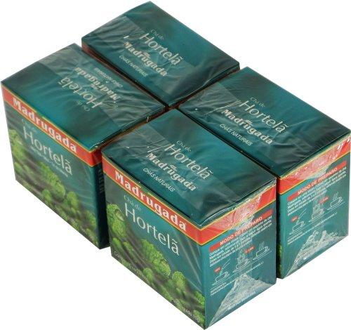 Madrugada - Mint Tea 10 tea bags - 0.5oz (PACK OF 04) | Chá de Hortelã - Menta 10 sachês -15g Di Menta Mint