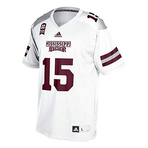 adidas NCAA Mississippi State Bulldogs Adult Men Dak Prescott Mississippi Replica Jersey,Medium,White