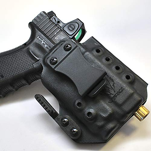 Werkz M6 Modular Holster for Glock 19 / 19x / 23/32 / 45 Gen 3/4/5 with Streamlight TLR-7, Ambidextrous, Right Hand Claw, Solid Black (Best Guide Rod For Glock 19 Gen 4)