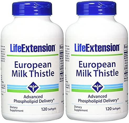 Life Extension European Milk Thistle 380mg 240 Softgels