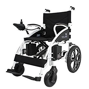2018 Black NEW Comfy Go - Foldable Lightweight Heavy Duty Electric Power Wheelchair from Buvan Corp