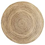 QEQEQE Hand-woven Carpet Living Room Bedroom Plant Water Reed Straw Leisure Area Rug Staircase Hanging Baskets Anti-slip Round Pad Study Swivel Chair Foot/Floor/Door Mats (Size : 120cm(47inch))