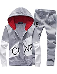 f6d67814cb Men's Tracksuits Print Sweatsuits Slim Casual Jogging Suits Sports Hooded